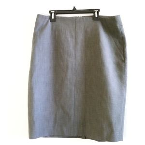 Ann Taylor Loft Women Gray Pencil Skirt 12